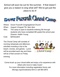 Choral Camp Flyer